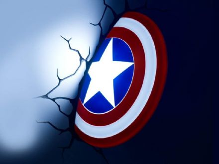 Captain America Shield 3D LED Light Marvel